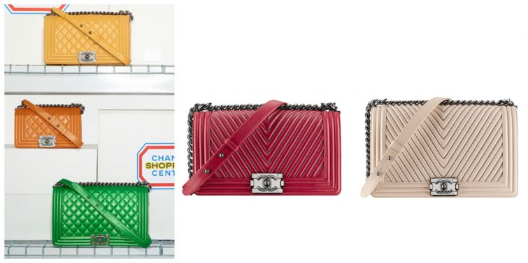 Boy flap bags by Chanel