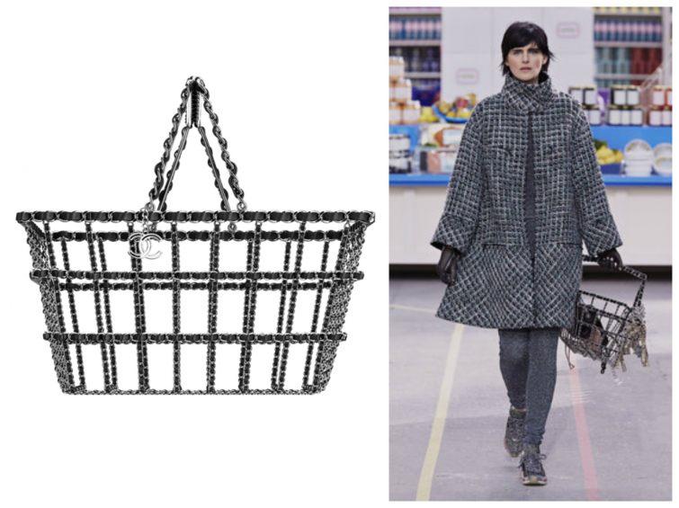 Mosazný nákupní košík Chanel