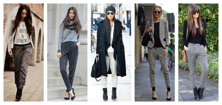 Vysoké boty a tepláky ženy