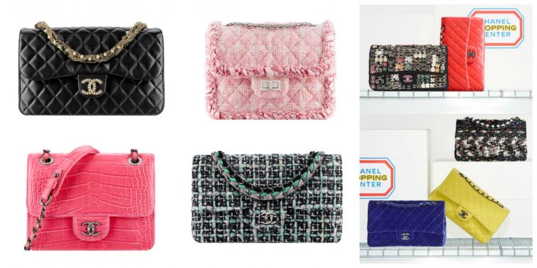 Flap bags by Chanel