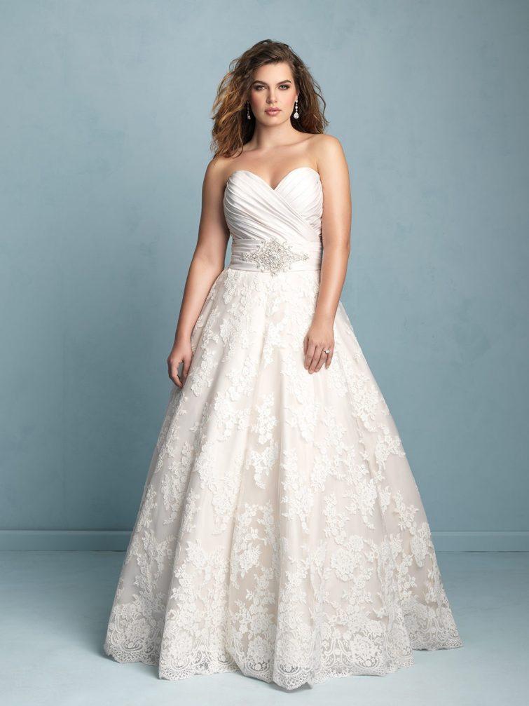 xxl svatební šaty pro obézní