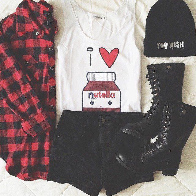 károvaná košile outfit