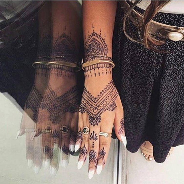 tetování hennou dámské