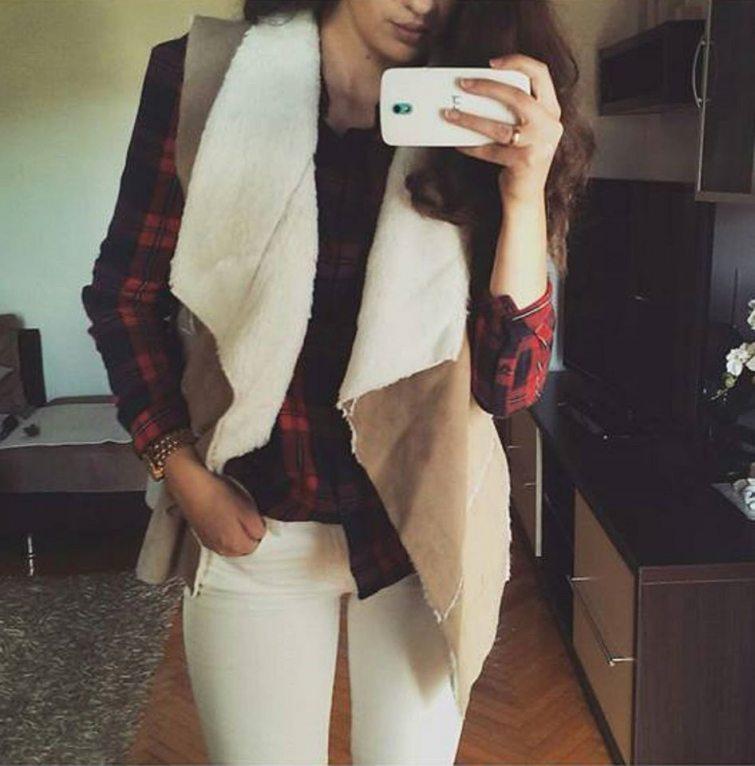 vesta z berana dámská módní