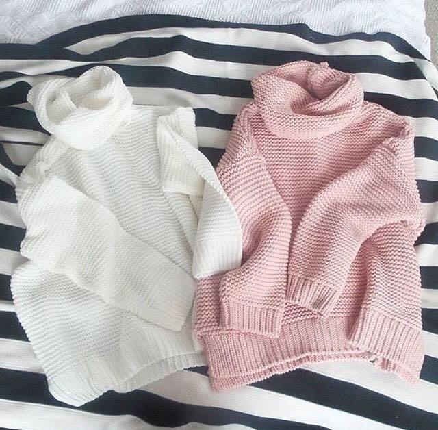 dámský růžový svetr