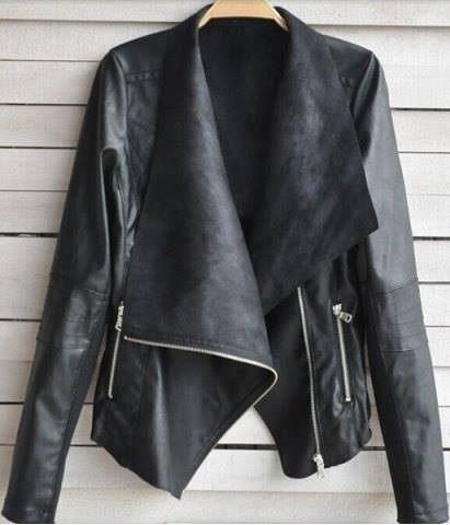 koženková bunda černá