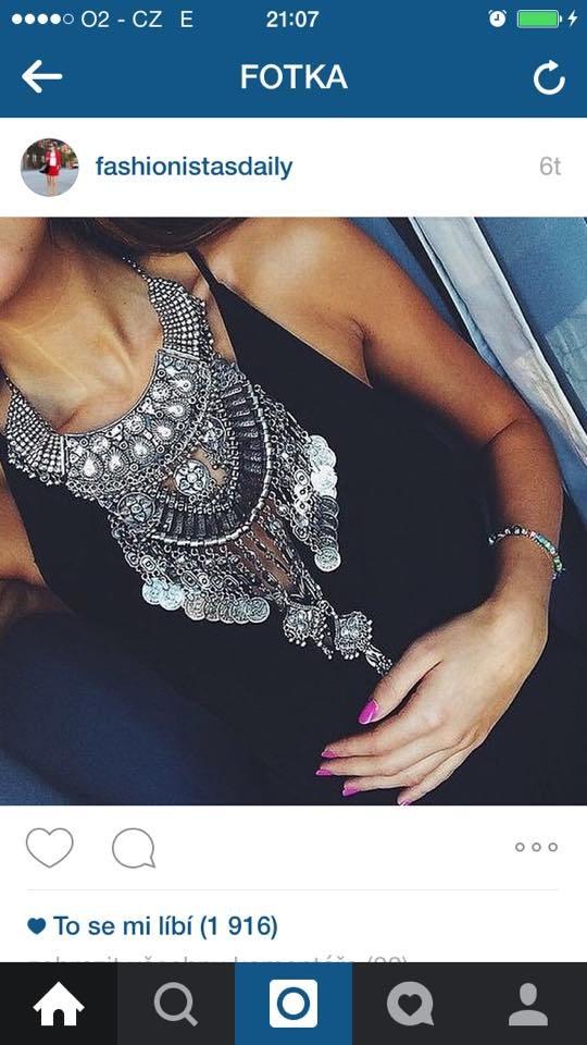 velký náhrdelník maxi