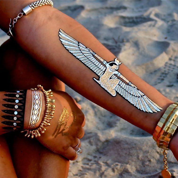 zlaté nalepovací tetování