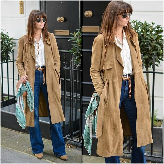 semišový kabát