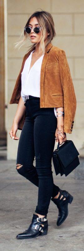 semišová bunda dámská