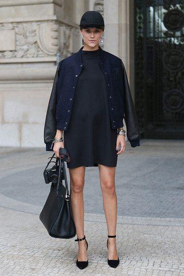 bomber bunda s minimalistickými šaty