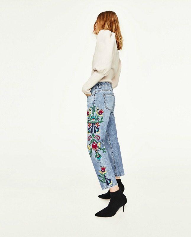 květinové džíny