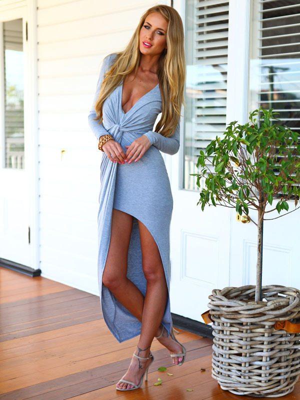 elastické asymetrické šaty