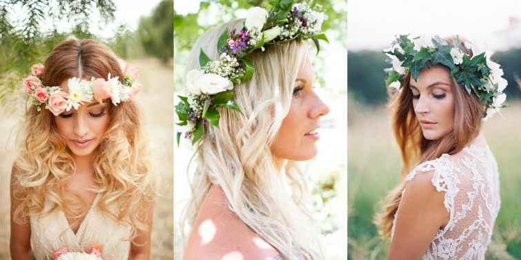 květinové věnce na svatbu