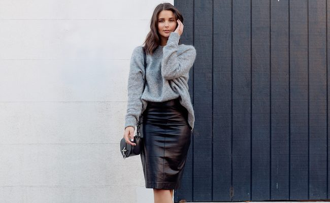 koženková sukně módní rady