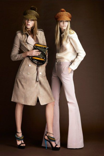 Burberry zvonové kalhoty