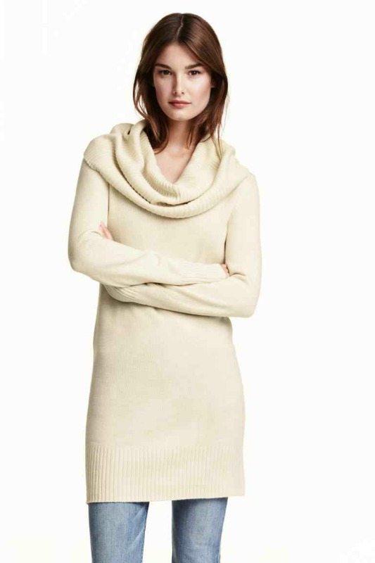 svetrové šaty pletené