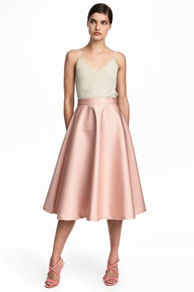 midi sukně pastelová