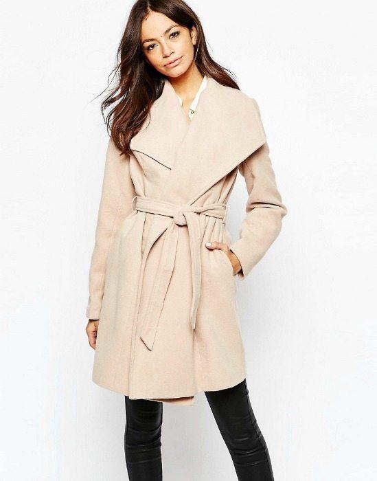 zavinovací kabát velbloudí klasika