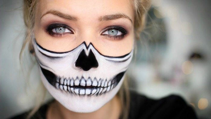 halloweenský make-up