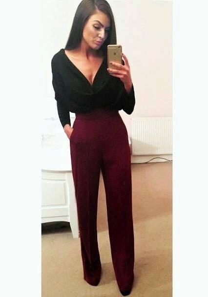 elegantní široké kalhoty