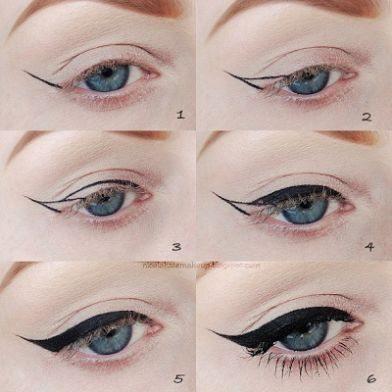 oční linky jak na to