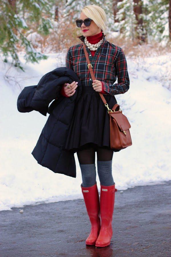holínky Hunter zimní boty