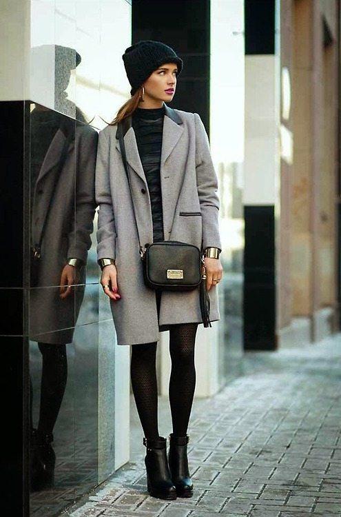 ženy kabát na podzim