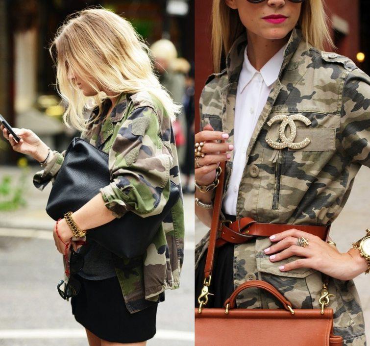 army styl oblečení