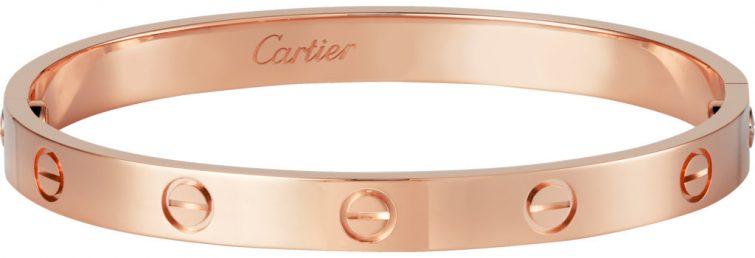 cartier růžové zlato náramek