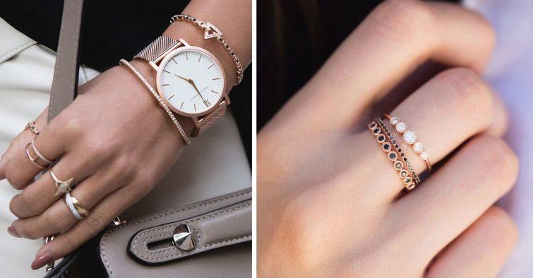 rose gold šperky jak nosit