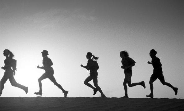 Běh ve více lidech