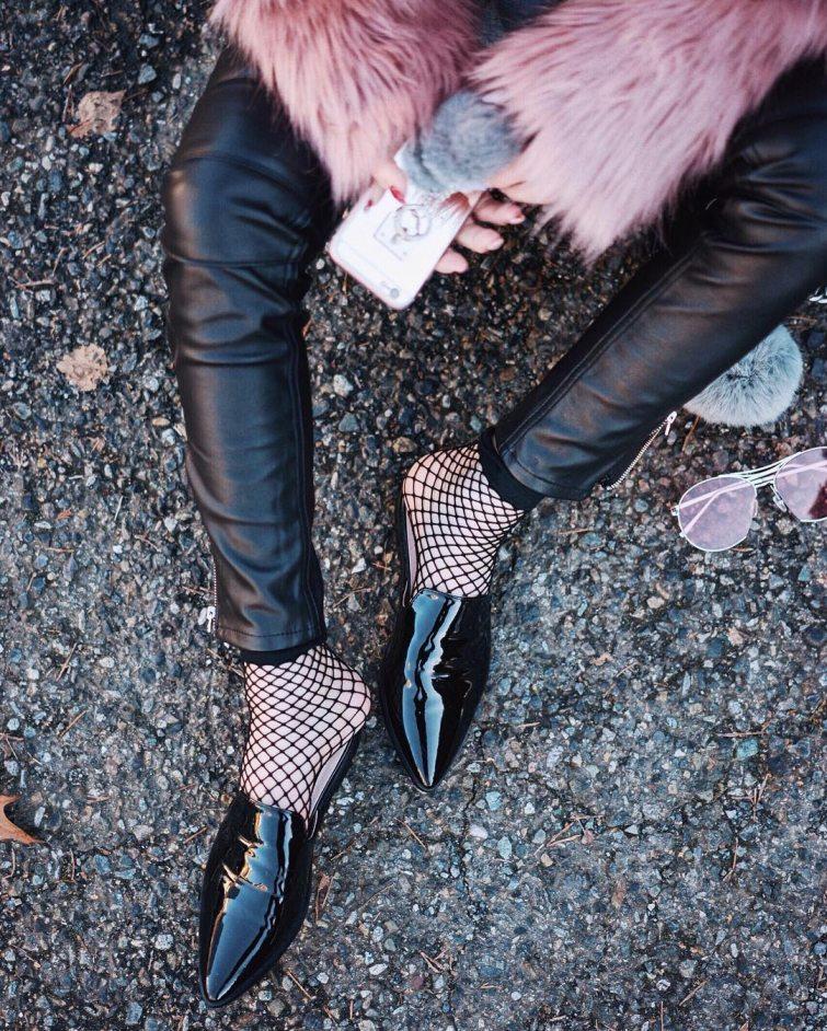 kotníkové síťované ponožky