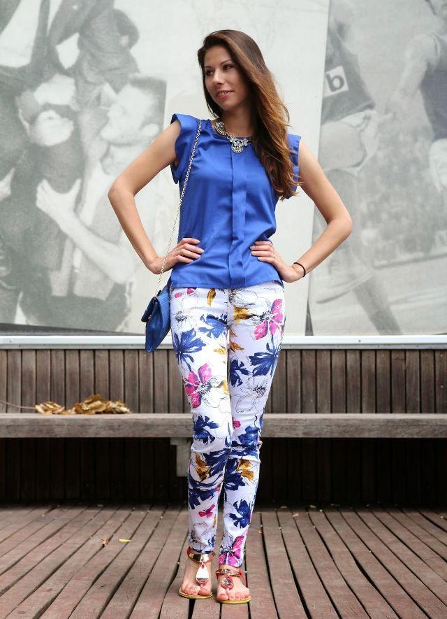 modré psaníčko outfit