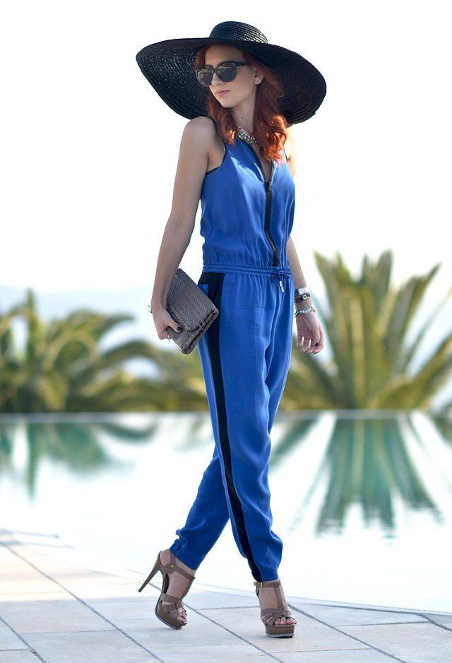 modrý outfit psaníčko