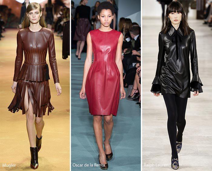 kožené šaty dámské 2017