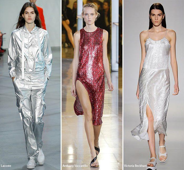 Lesklé šaty 2016 jaro léto