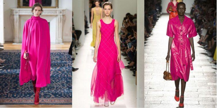 fuchsiová barva oblečení pro ženy