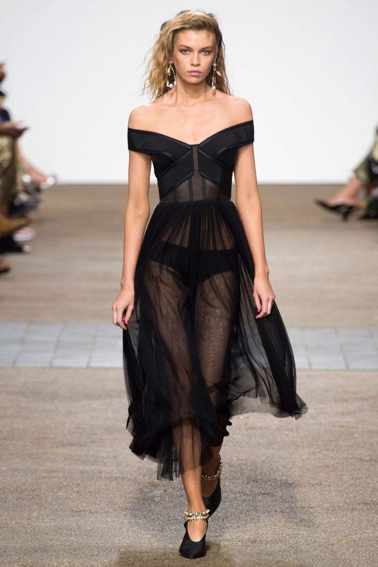 průsvitné šaty dámské trendy módy ss17