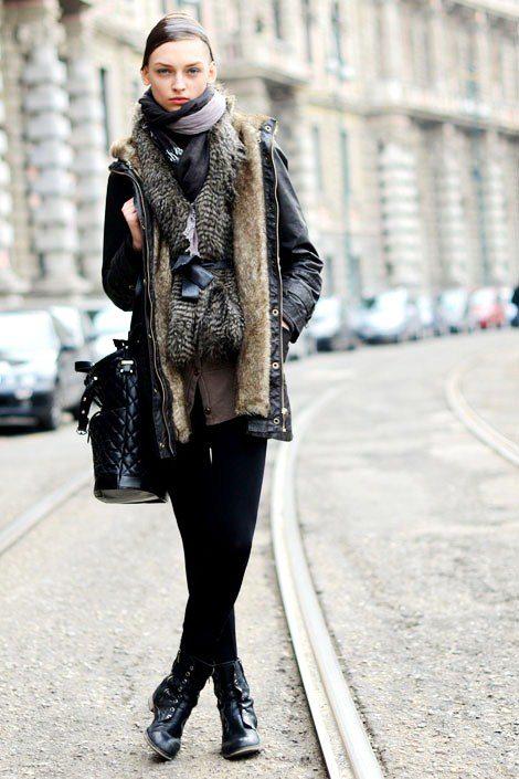 vrstvení móda