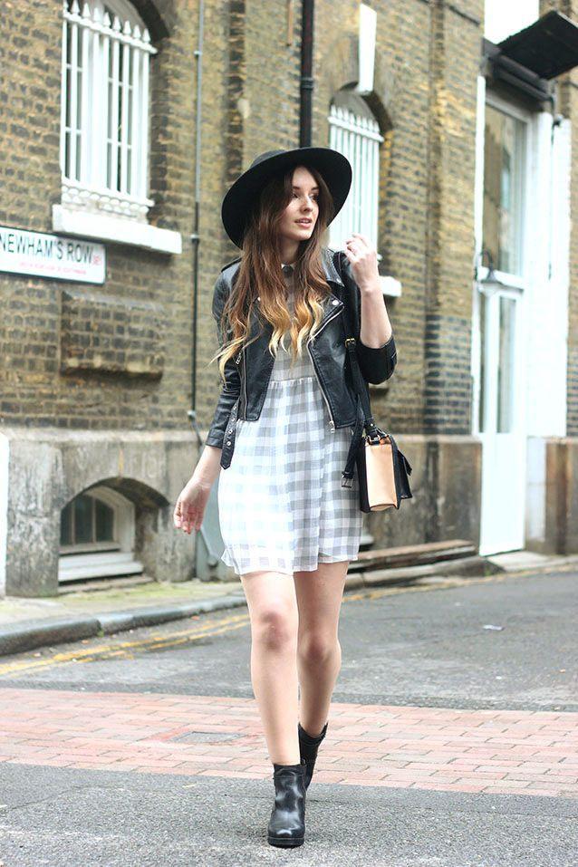 šaty s koženkovou bundou