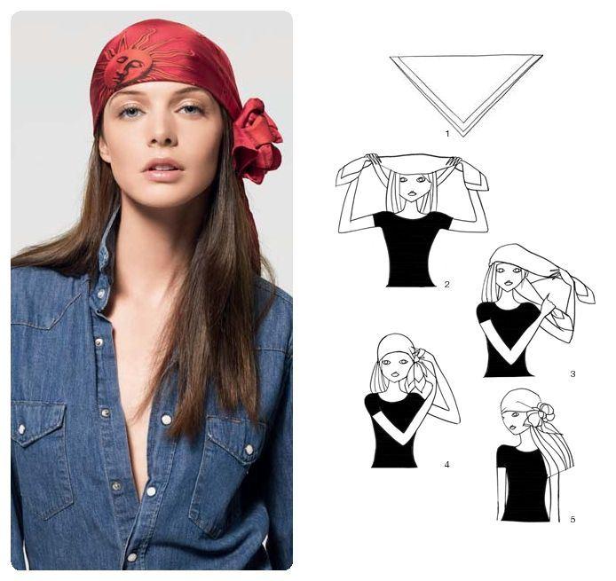 šátek pirát postup návod