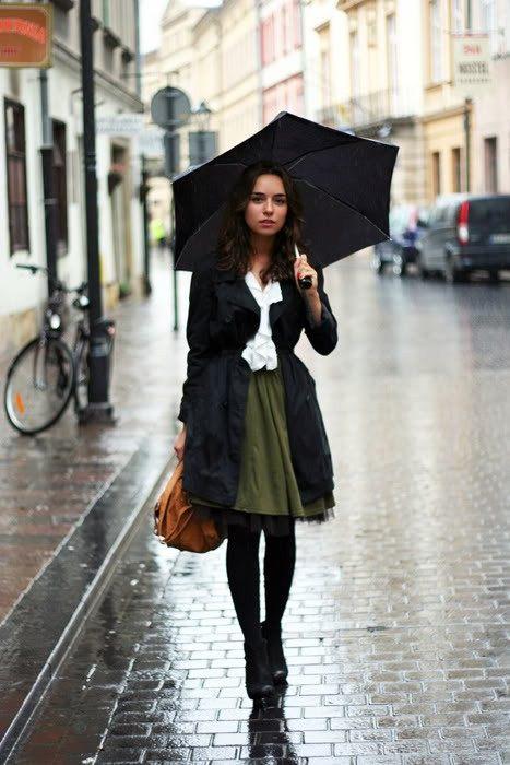 I v dešti můžete být stylová