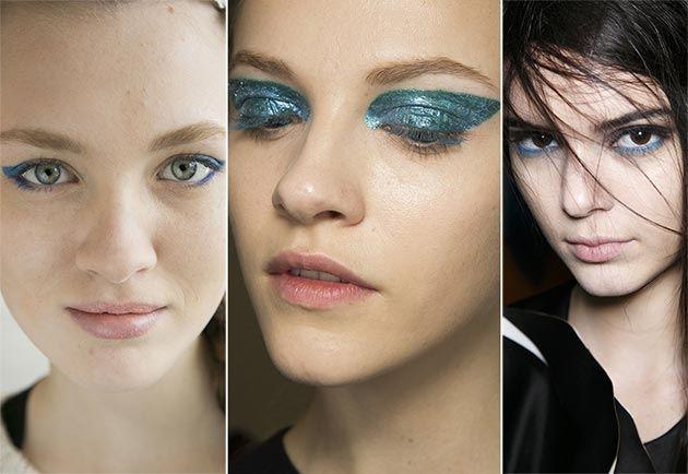 Modré stíny, trendy make-up pro podzim a zimu 2014/2015