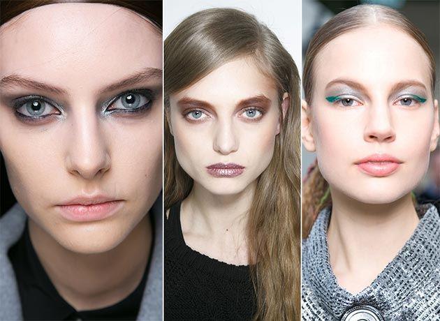 Metalové odlesky, trendy make-up pro podzim a zimu 2014 a 2015