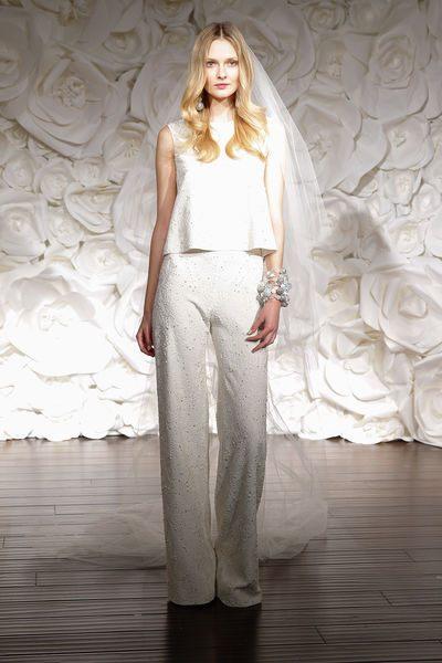 kalhotové svatební šaty pro rok 2015