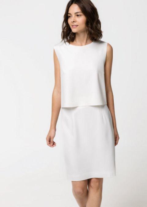 Bílé romantické šaty na kolo 2017
