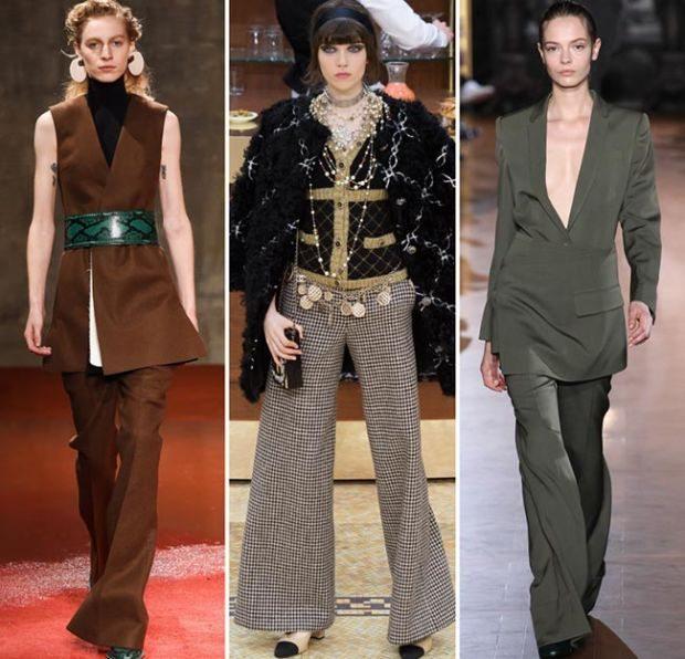 zvonové kalhoty podzimní móda