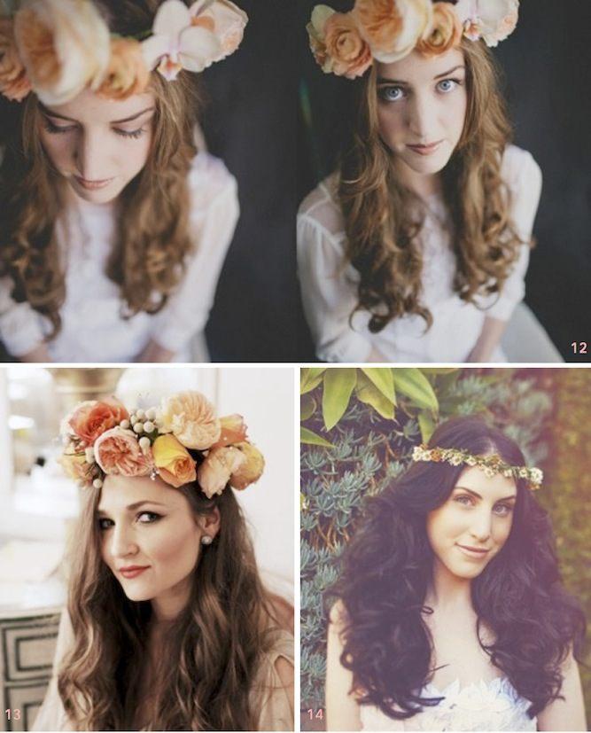 Květinové věnce sluší všem typům žen