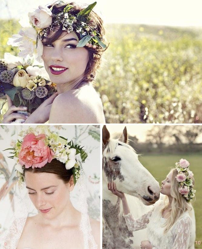 Věnec z květin se hodí nejen na svatbu